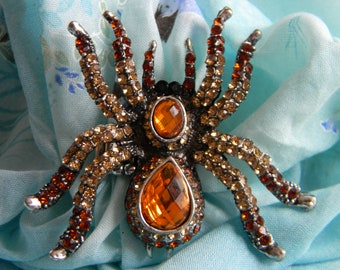 Jeweled Spider Ring