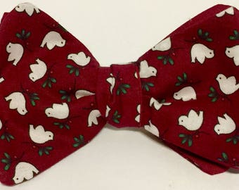 Bow tie free style with Peace Doves