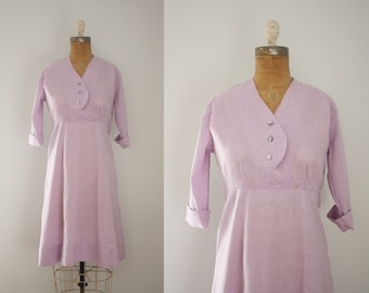 1940s house dress | vintage 40s cotton dress