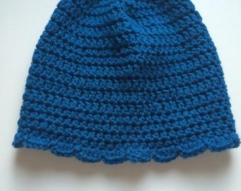Kids Blue Beanie Hat
