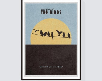 The Birds Minimalist Alternative Movie Print & Poster