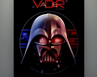 """Star Wars Rebels Inspired """"Darth Vader Animated Helm"""" 11X14 Art Print by Herofied Ralph McQuarrie-inspired"""