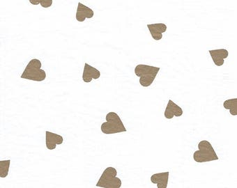 """Tissue Paper ,Gold Hearts Tissue Paper  Gift Wrap Paper,  20"""" x 30""""  Tissue Paper, 10 sheets of  Tissue Paper , Made in USA, Vintage Look"""
