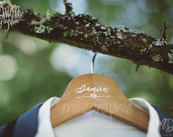 Personalized for wedding, christening or birthday - gift witnesses name hanger