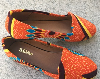African Fabric Flats