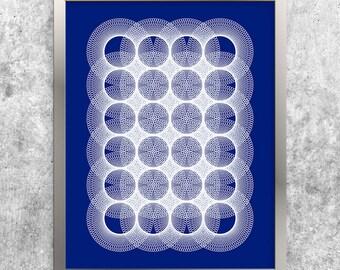 Blue Geometric Art, Printable Download, Modern Art, Abstract Art Print, Contemporary Wall Art, Modern Minimal, Digital Print, Home Decor