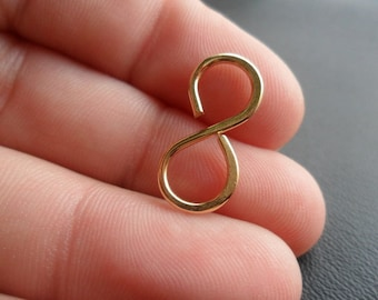 Large Handmade Infinity Hooks Choose From Sterling Silver, Ox Sterling, Copper, Oxidized Copper or NuGold  25mm 25 pcs