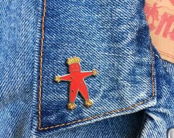 Voodoo Doll Pin, Hard Enamel Pin, Jewelry, Art, Gift (PIN52)
