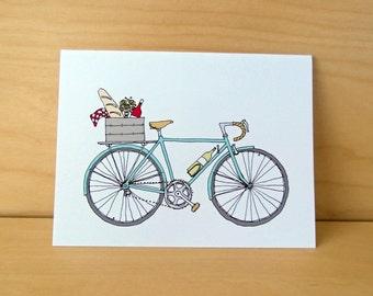Picnic Bike - Wine Bike - Napa Bike Card