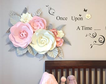 Nursery Decor -  Girl Bedroom - Custom colors