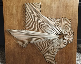 Texas (or any state) String Art