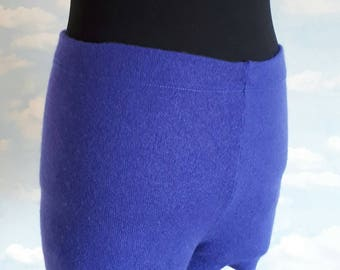 Cashmere Wool Shorts - Pure Cashmere - Handmade - Blue - Size Small - Cashmere Underwear - Cashmere Shorts - Cashmere Knitted
