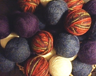 Lavender Felted Wool Dryer Balls are a natural, eco-friendly alternative to chemical filled dryer sheets.