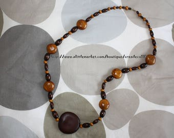 Spirit necklace Earth also hand made L95cm