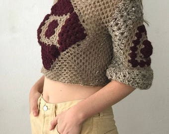 100% RECYCLED. Zero Waste. HAND MADE Crochet Top