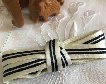 MOKUBA white/blue elastic