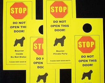 Bouvier's Friendly Alternative to Beware of Dog Sign Keeps Bouvs Safe