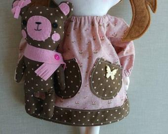 Sophie, rag doll, cloth doll, fabric doll, hand made doll, homemade doll, soft doll, art doll, OOAK rag doll, OOAK cloth doll, OOAK doll