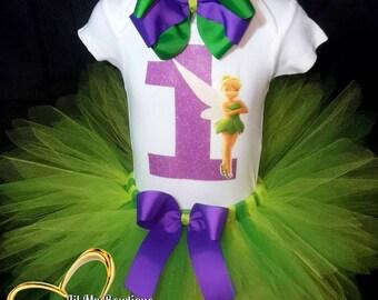 Tinkerbell Tutu, Tinkerbell Tutu outfit, Tinkerbell Tutu set, Tinkerbell Tutu dress, Tinkerbell birthday Tutu, fairy Tutu dress, fairy tutu
