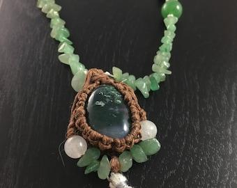 Moss Agate Mala Necklace
