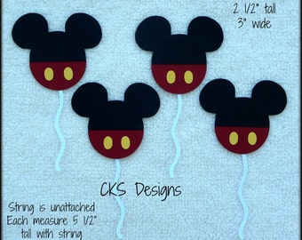 Die Cut Mickey Mouse Disney Balloons Scrapbook Page Embellishment Paper Piecing
