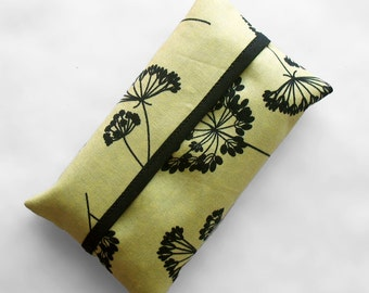 Tissue Holder - Chartreuse and Black Floral