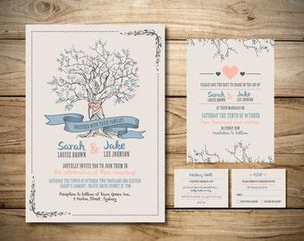 Love Tree Wedding Invitation Package