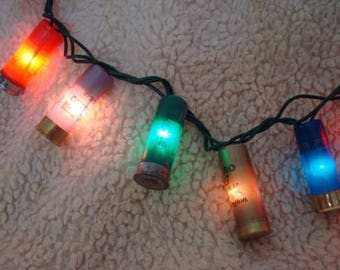 Multi Colored Shotgun shell Christmas lights