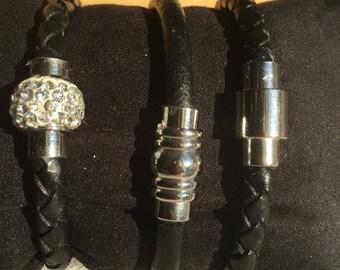 Women leather Bangle Bracelet