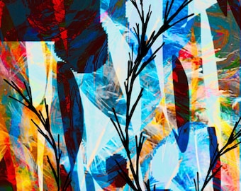 Abstract Branches art print in colors wall drfor hone decor