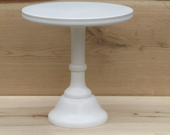 "Custom Tall Cake stand, 10"",12"",14"" Sturdy Cake Stand, Personalize, White, Wedding Cake Stand, Bridal, custom, Cake Pedestal, Shabby Wedding"