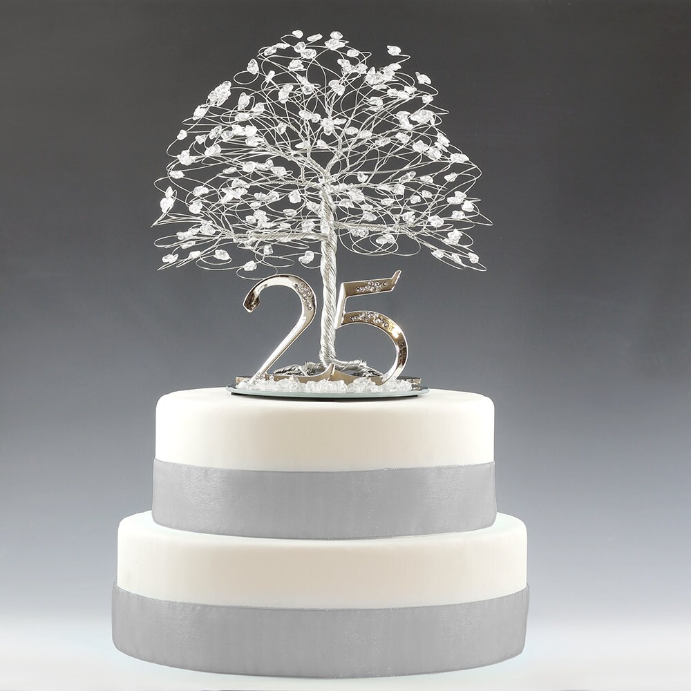 25th anniversary cake toppers