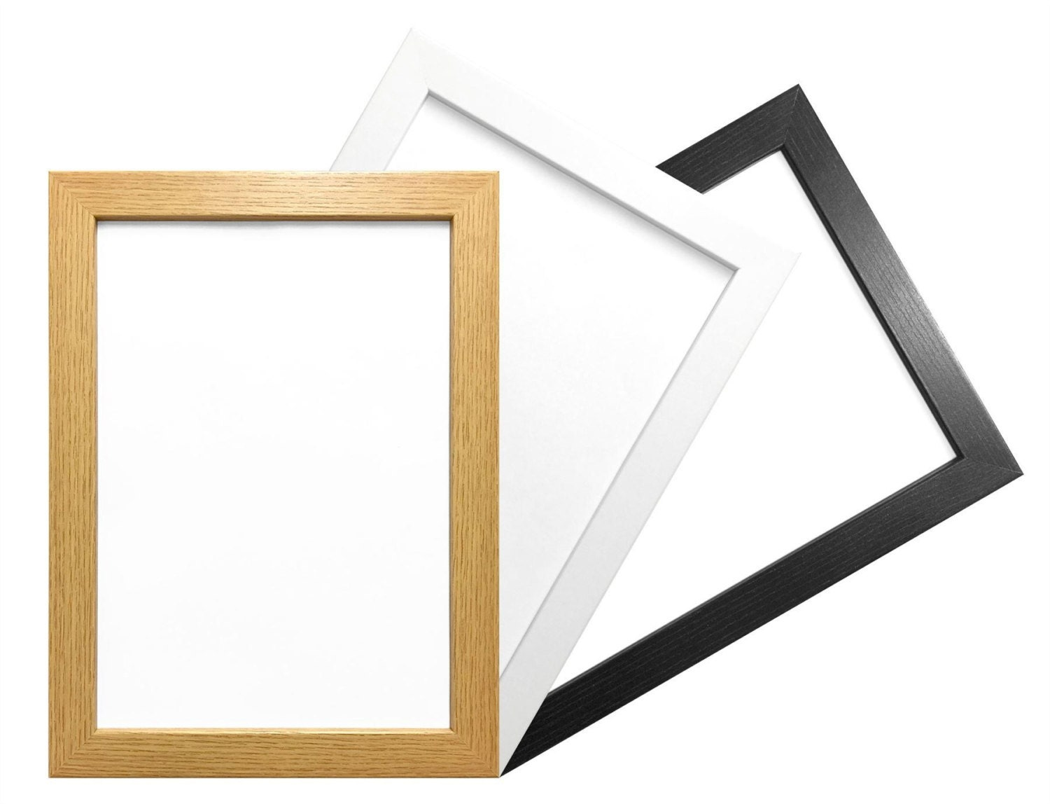 A4 Picture Photo Frame Modern Flat Box Moulding Hang or Stand