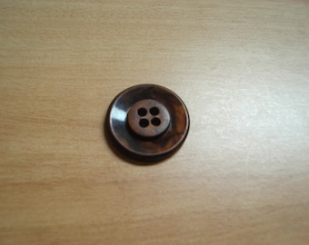rust brown round buttons