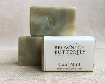 Handcrafted Cool Mint Soap