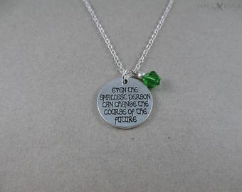 Lord of the Rings - Even the Smallest Person Can Change the Course of the Future - Charm Necklace - Silver Charm