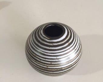 Mid Century Stoneware Vase/Brutalist Pottery Vase/ Small Ceramic Vessel/Stoneware Ceramic Studio Art Pottery By Gatormom13