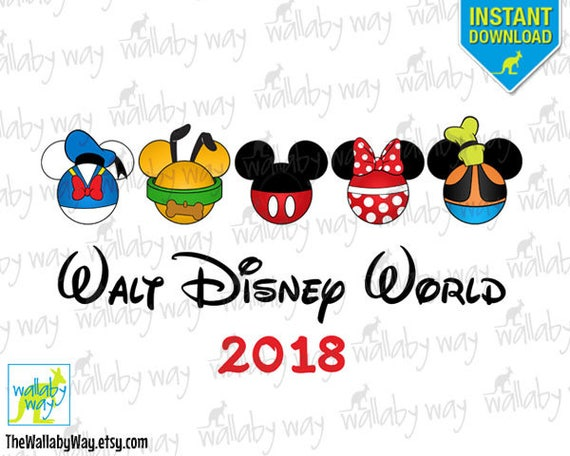 walt disney world printable iron on transfer or use as clip rh etsy com disney world clipart 2017 disney world clipart images