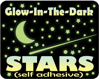 Kids Room Wall Decals, Glow in the Dark Stars, Bedroom Decor, Ceiling Stars, Glow Stars, Realistic glow stars, Glow Stars, Boys Room Decor