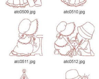Religious-Sunbonnets ( 10 Machine Embroidery Designs from ATW ) XYZ17C