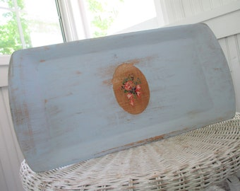 Vintage Tray * Shabby Chic * Cottage * Blue