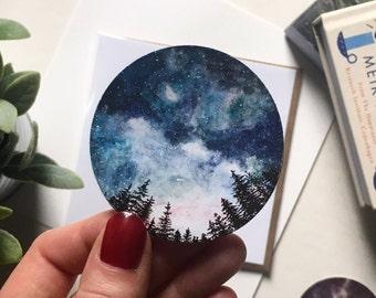 Watercolour Starry Sky Paper Sticker