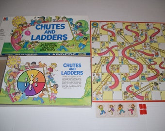Vintage 1979 CHUTES & LADDERS Milton Bradley Board Game COMPLETE