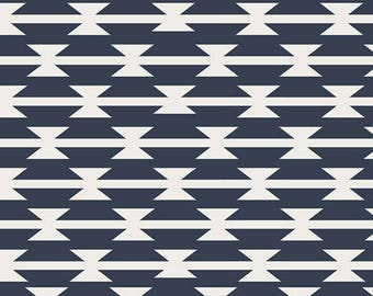 "Fabric Remnant - Tomahawk in Navy - Arizona Collection - Art Gallery - 27""x42"""