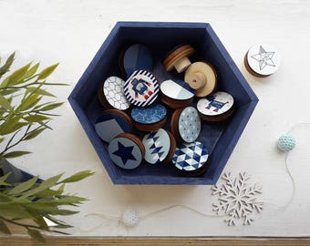 wooden drawer handle/choose your own set of knobs/Nursery decor/Drawer Knobs 1.8 inches