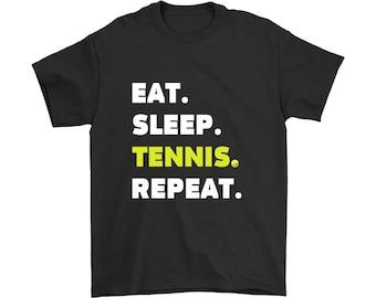 Eat Sleep Tennis Repeat T Shirt, Eat Sleep Tennis Shirt, Tennis Shirt, Gift for Tennis Fan, Tennis Lover T Shirt, Tennis Player T Shirt