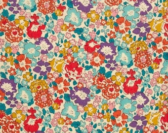 Michelle A Liberty of London Fabric - Tana Lawn Cotton - Floral - Flowers - Colorful