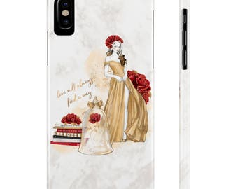 Beauty and The Beast Phone Case, iPhone 7 Case, iPhone 8 Case, iPhone 6 Case, iPhone X Case, iPhone 7 Plus Case, Belle Phone Case, Samsung