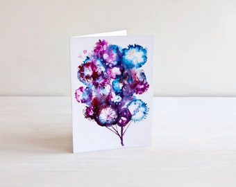 Watercolor Tree Art Card | Abstract Art Card | Nature Art | Illustrated Card | Nature Stationery | Art Birthday Card | Well Wishes Card