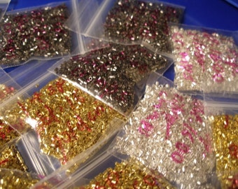Silver and BRONZE are here  One teaspoonful, about 1600, gold crimps  --   WWWG,  OlympiaEtsy, paganteam, Team ESST